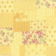 Moda Whitewashed Cottage by 3 Sisters - 3729 - Yellow Collage - 44060 15 - Cotton Fabric